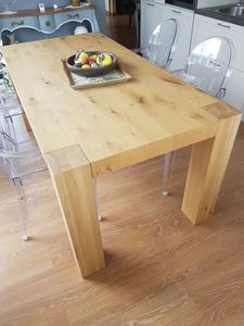 Glicine table, Solid oak wood table