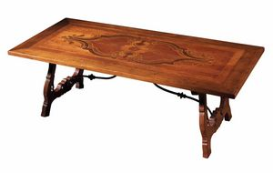 Pratella RA.0683, Treviso table with lyre-shaped legs