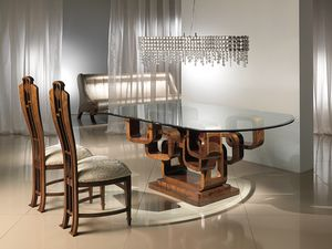 TA34 Glamour, Dining table with rings base