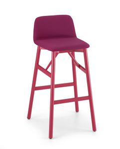 ART. 0039-LE H80 BARDOT, Stool with footrest, height 80cm
