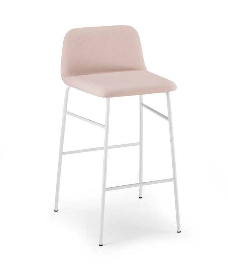 ART. 0036 MET-TU BARDOT, Padded stool with fixed height