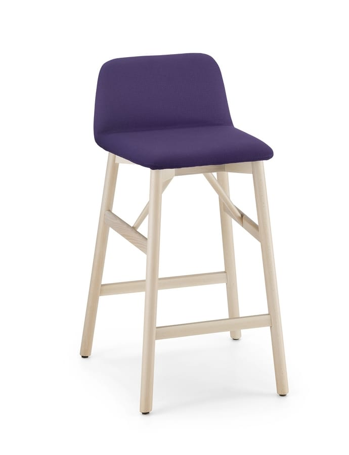 ART. 0039-LE H70 BARDOT, Upholstered stool with footrest