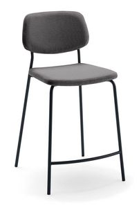 Art. 517 Ginger, Stool in stain-resistant fabric