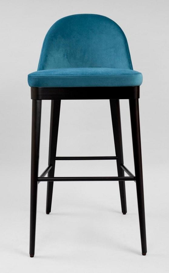 BS436B - Stool, Upholstered stool
