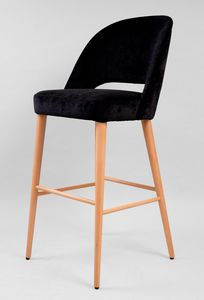 BS441B - Stool, Stool with velvet covering