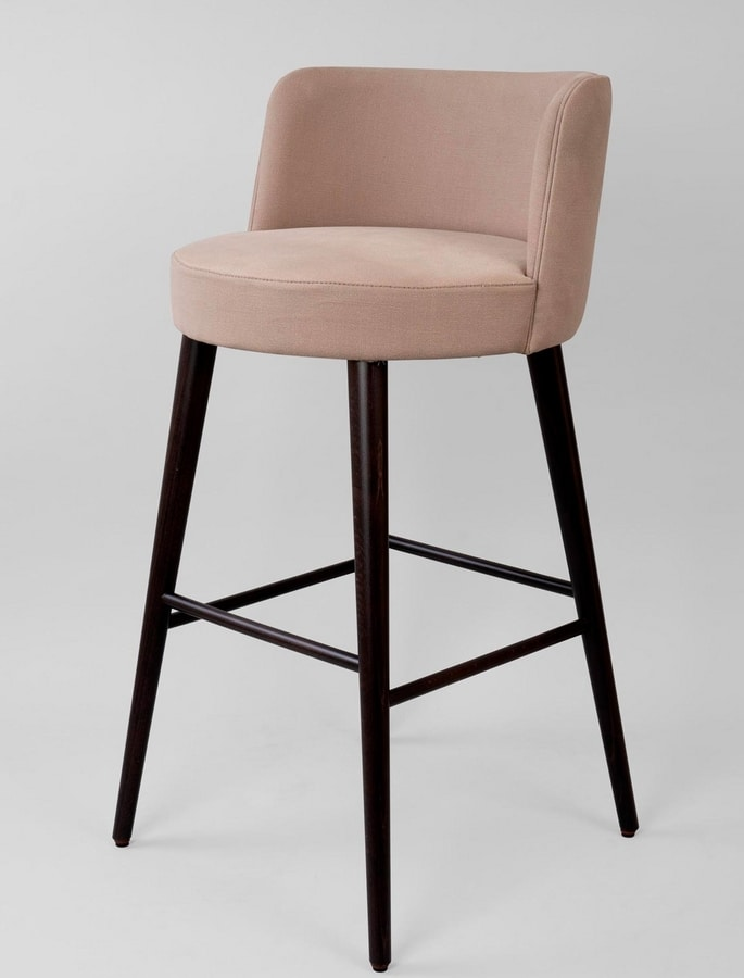 Awesome Upholstered Stool With Upholstered Back Idfdesign Machost Co Dining Chair Design Ideas Machostcouk
