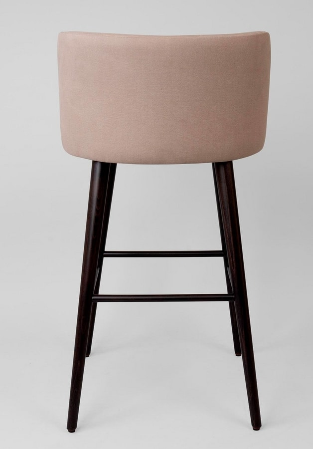 BS461B - Stool, Upholstered stool with upholstered back