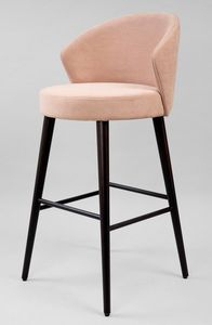 BS468B - Stool, Stool upholstered in fabric