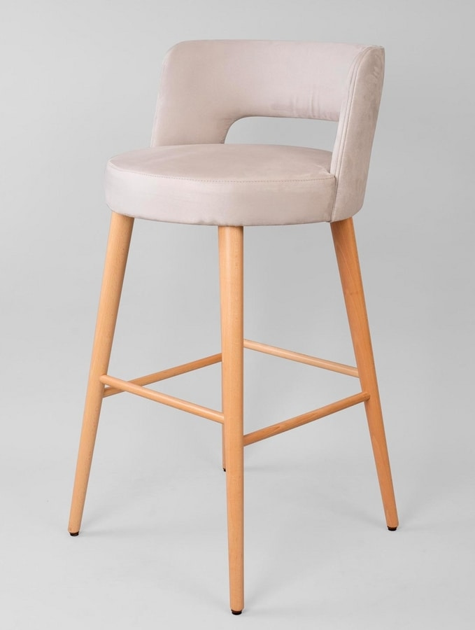 BS469B - Stool, Stool upholstered in fabric