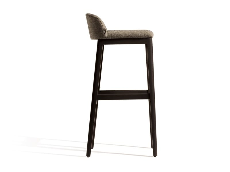 Concord 529M, Upholstered stool with low backrest