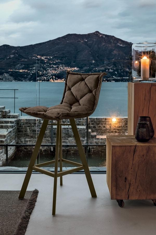 DIGIONE PLUS SG185, Padded stool, metal base