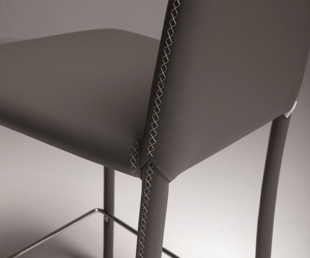 Dora-SG, Fully upholstered stool
