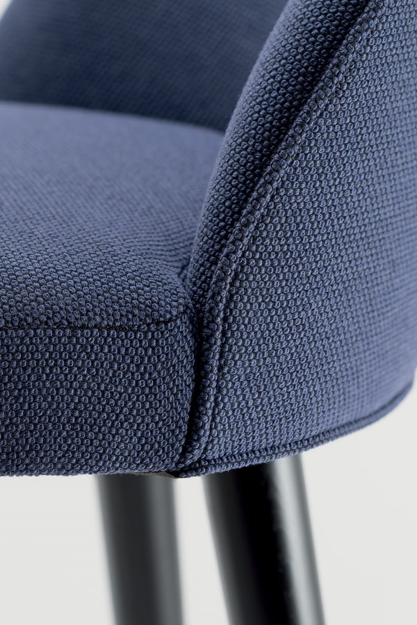 GINGER BAR STOOL 060 SG, Upholstered stool, with round seat