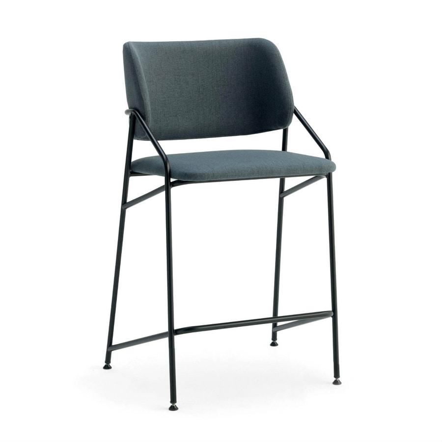 Line SGF, Metal stool, upholstered