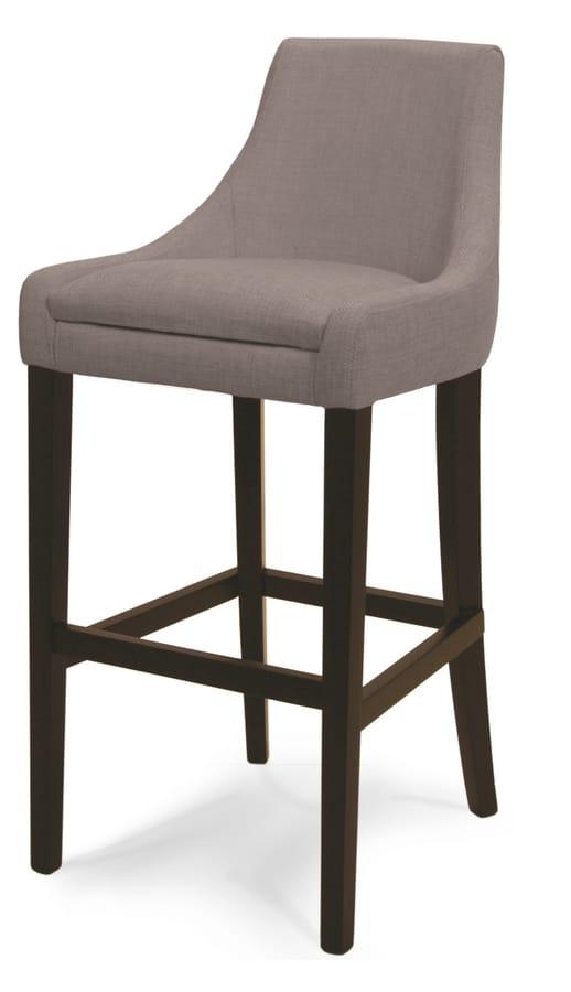 MADEIRA SG, Stool upholstered in fabric or velvet