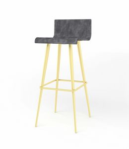 Mike, Stool with conical tubular legs