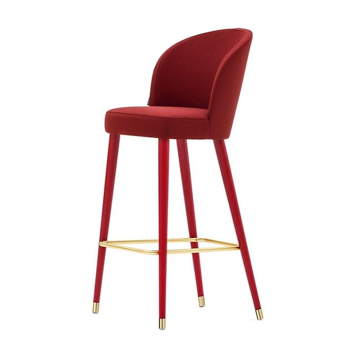 Rose 03981, Padded stool, metal base