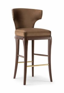 ROSE BAR STOOL 066 SG, Enveloping stool with classic lines