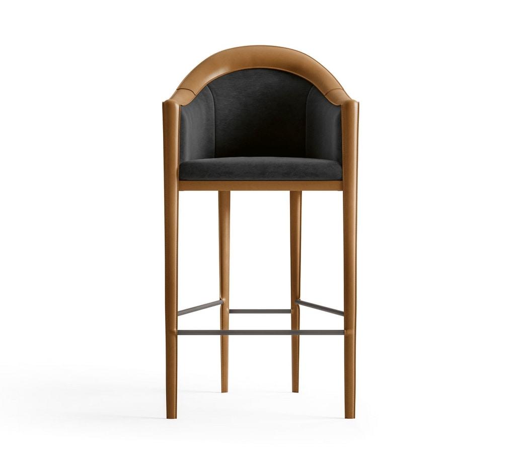 Starlight Art. ST725, Fully upholstered stool