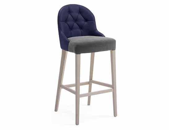Tina-SG, Stool with backrest available with buttons