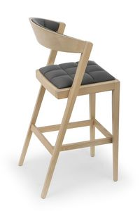 Zanna UPH stool, Elegant wooden stool