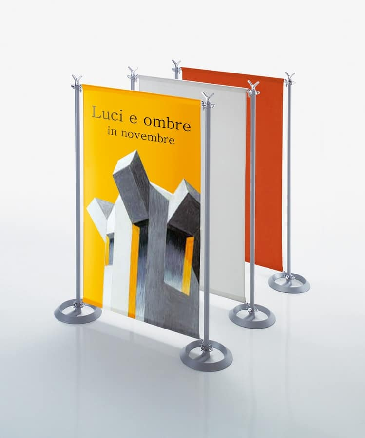 Battista partition system, Partitions in steel and aluminum body for open space