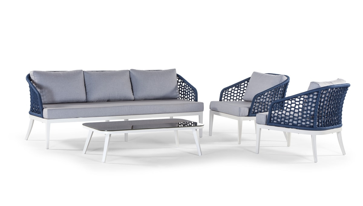 Aruba/Guadalajara, Outdoor set with sofa and side table