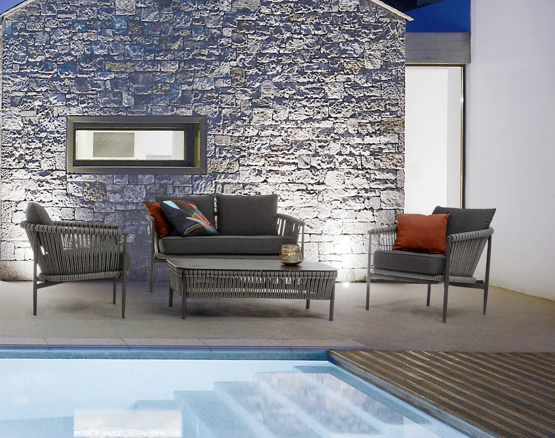 DOLOMITI, Water repellent outdoor seating set