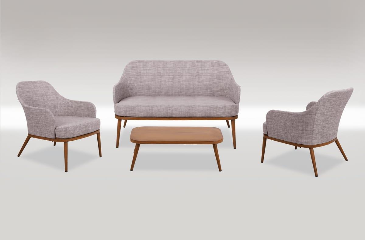FORTE DEI MARMI SET, Garden set with sofa and armchair