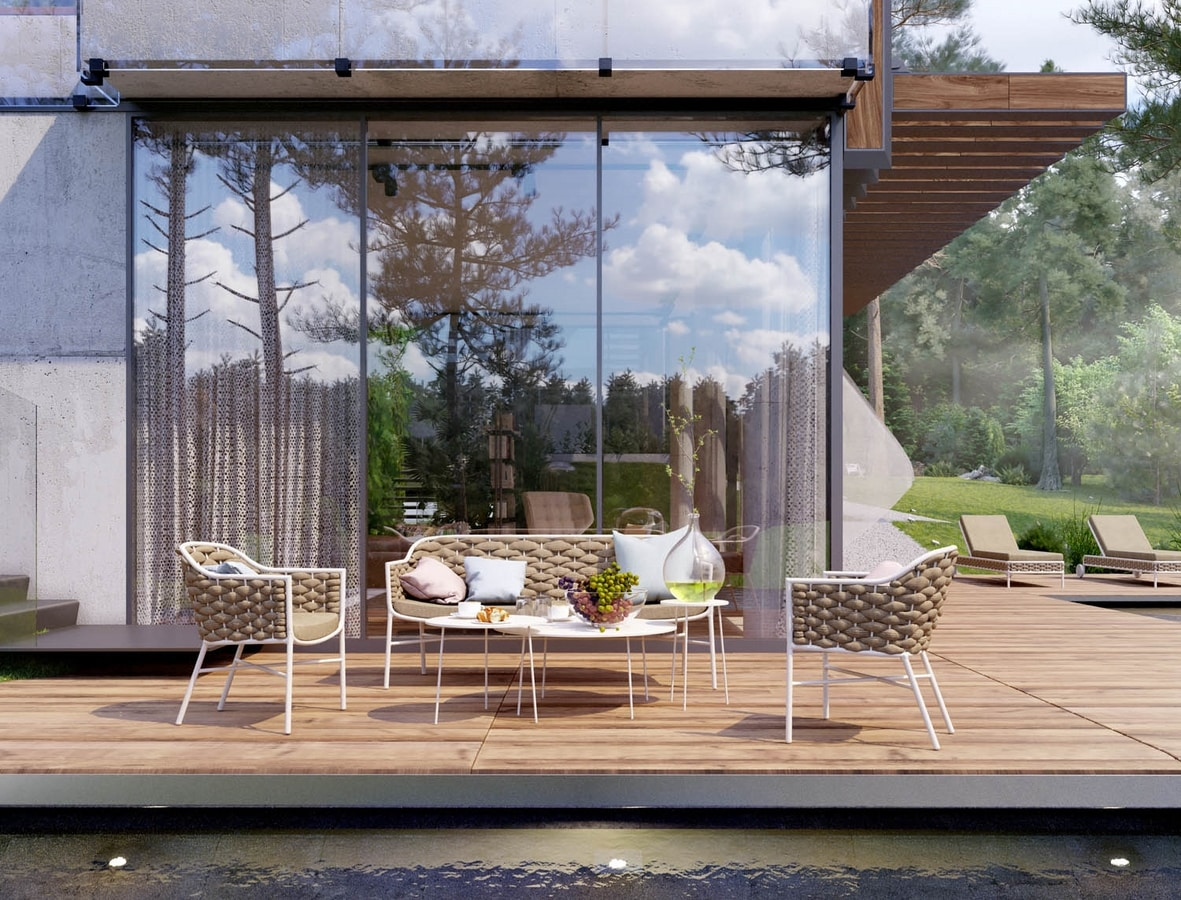 LOVE EVO, Set of seats for outdoor furniture