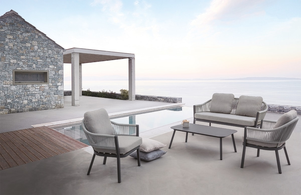 Messico Set, Outdoor set with armchairs and sofa