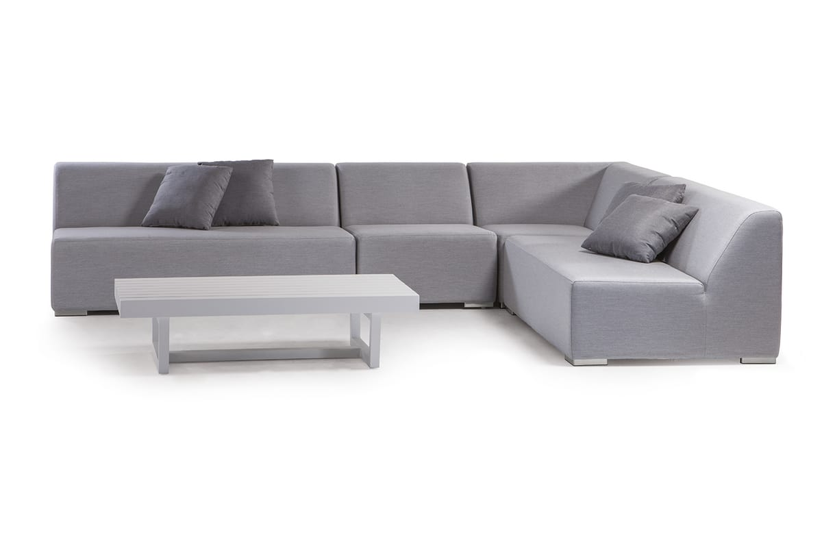 MIKONOS SET, Garden set with modular sofa in foam