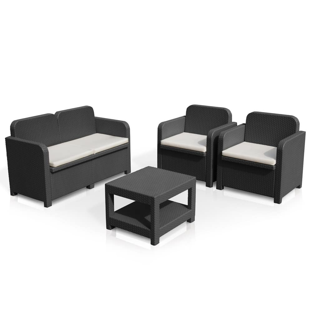 Outdoor garden rattan forniture Sorrento – S7705, Garden living room, easy to clean and assemble