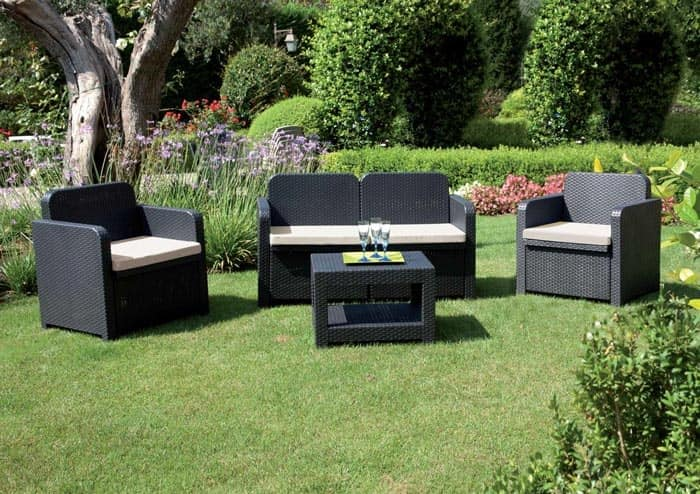 Set Rattan Sorrento Grand Soleil.Garden Living Room Easy To Clean And Assemble Idfdesign