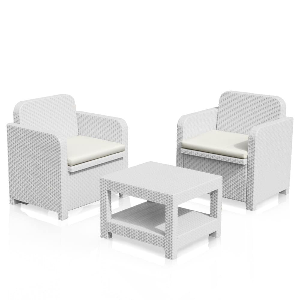 Outside lounge Garden rattan armchairs Giglio – S7570, Garden set with 2 armchairs and a coffee table, in rattan