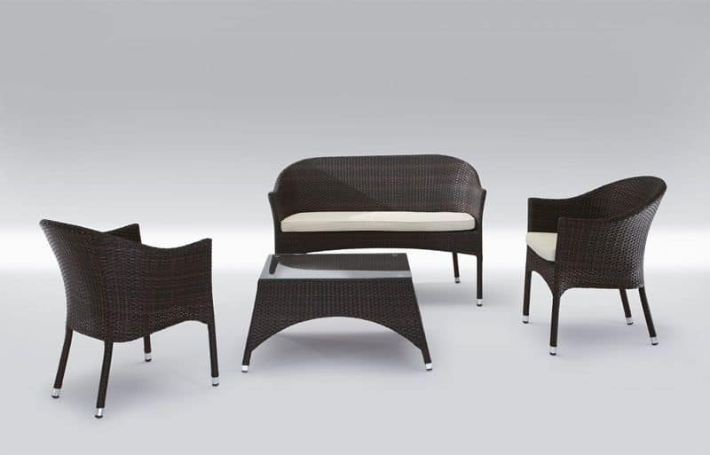 Rio Set, Modern seat and table for outdoor use Patio
