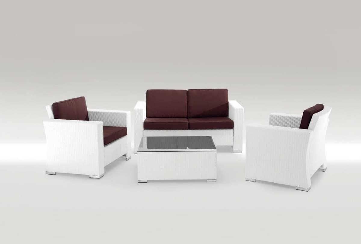 Santa Barbara Set, Garden set with armchair, sofa and coffee table