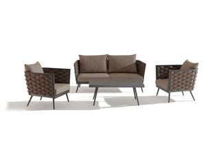 SET CAPPUCCINO, Garden set with sofa and table