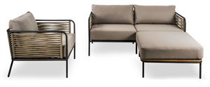 SET CORTINA, Set of sofas and armchair for outdoor