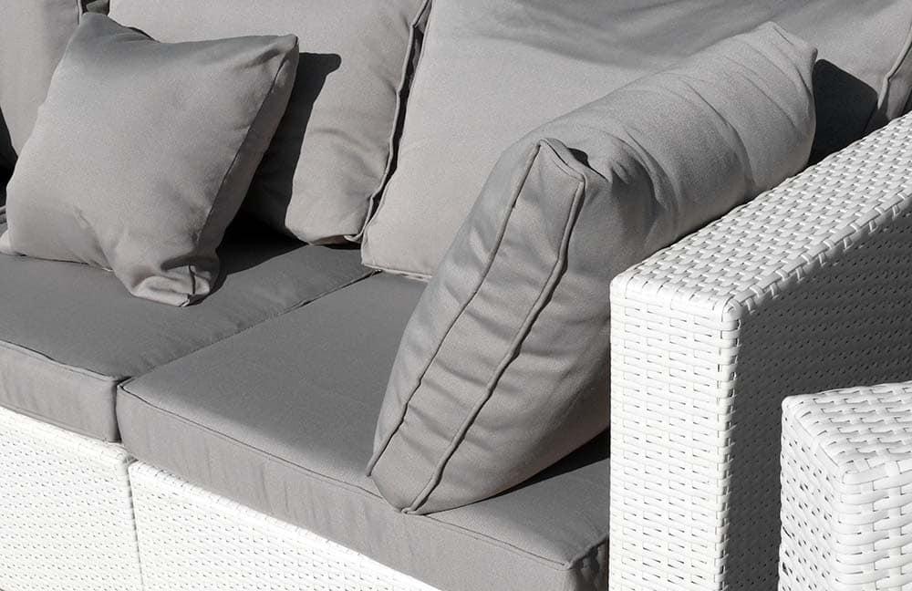 Set Giardino Rattan Bianco.Outdoor Rattan Set With Angular Sofa And Armchair Idfdesign