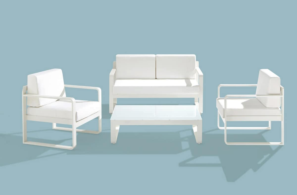 Star Set, Set outdoor furniture, aluminum frame, various colors