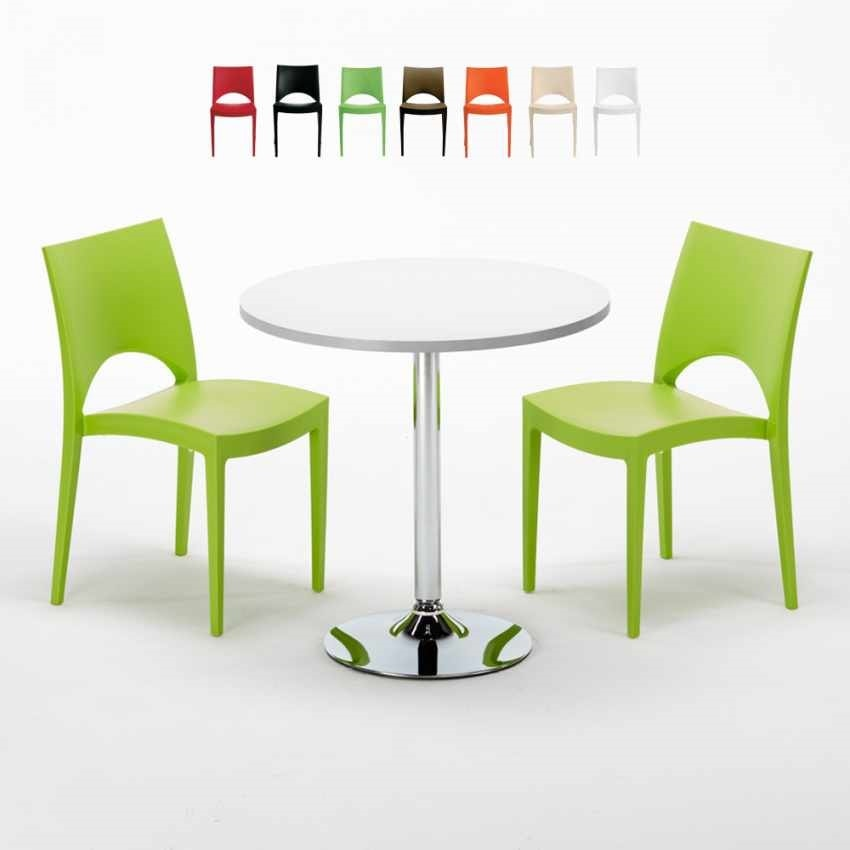 Sedie In Ecopelle Colorate.Garden Set With Table And Chairs Idfdesign