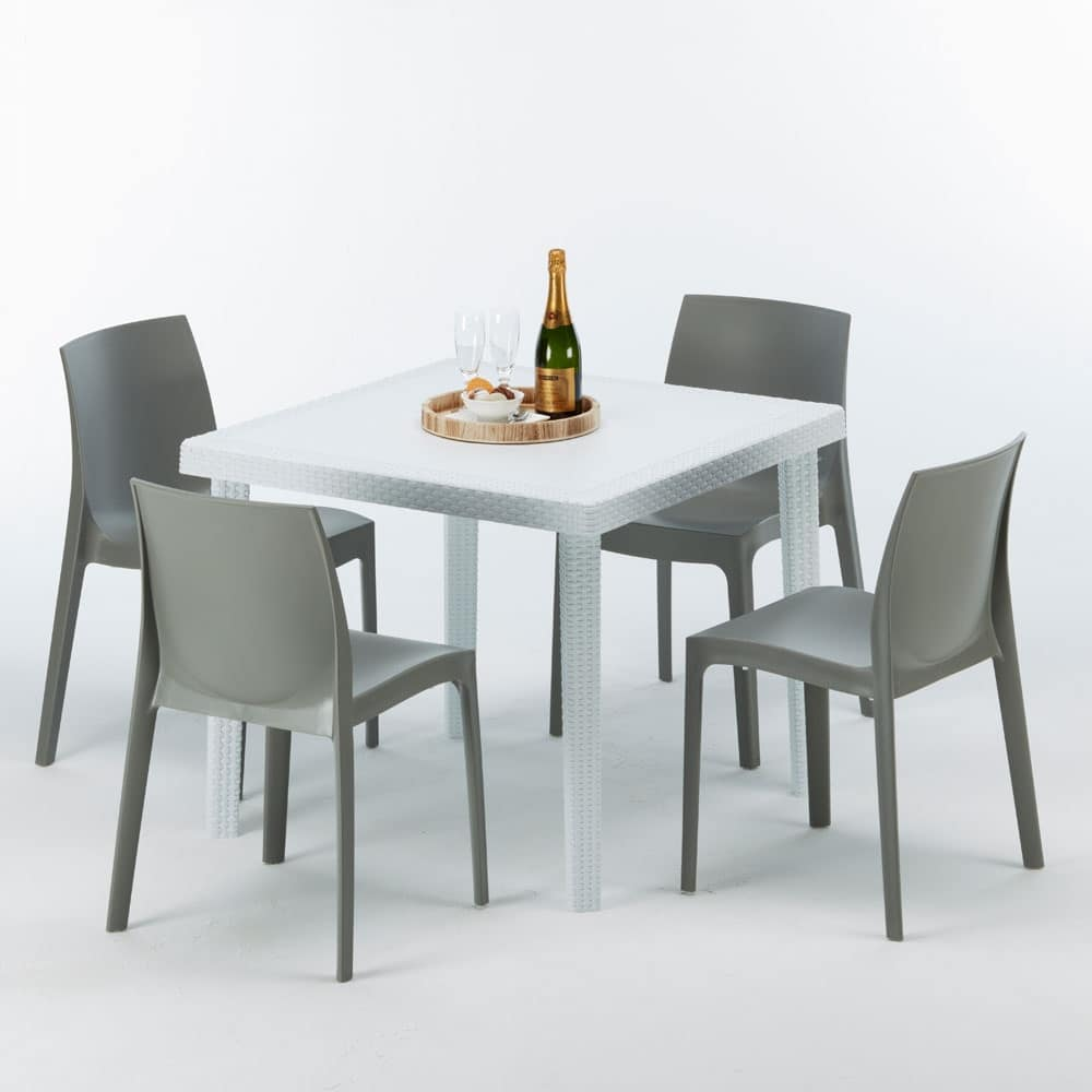 Set Tavolo E Sedie Da Giardino Rattan.Poly Rattan Coffee Table For Restaurants And Gardens Idfdesign