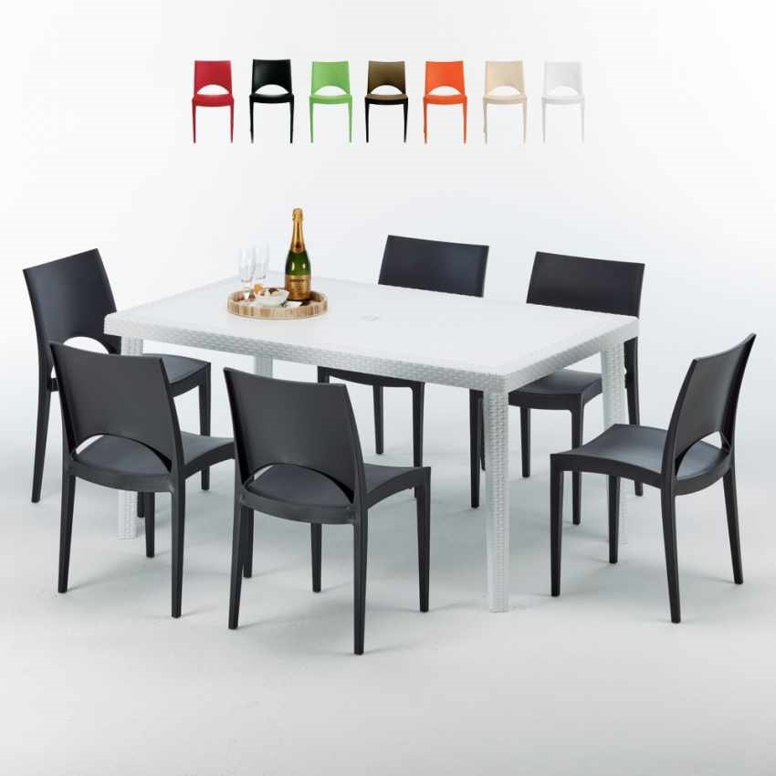 Tavolo Con Sedie Esterno.Garden Set With Table And 6 Chairs Idfdesign