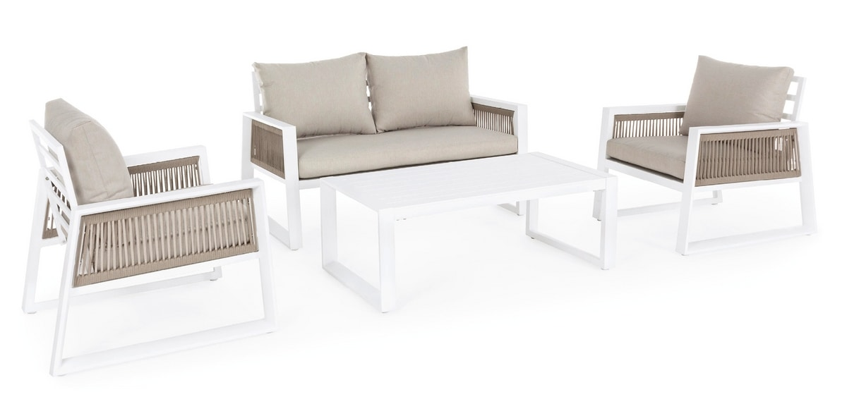 Veracruz set, Outdoor set with removable cushions