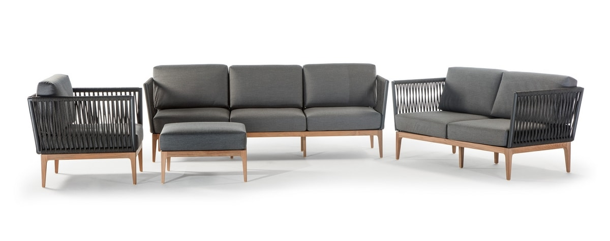 Yucatan, Outdoor set with sofa and armchair