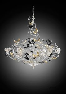 215112, Chandelier with decorative butterflies