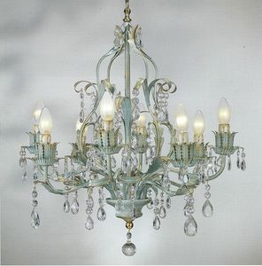 90518, Chandelier with decorative crystals