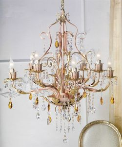 90518/RO, Chandelier with Scholer crystals