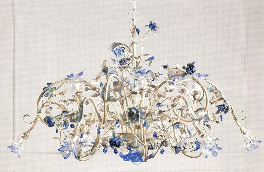 958112, Chandelier with glass diffusers